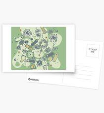 Eukaryote (grün) Postkarten