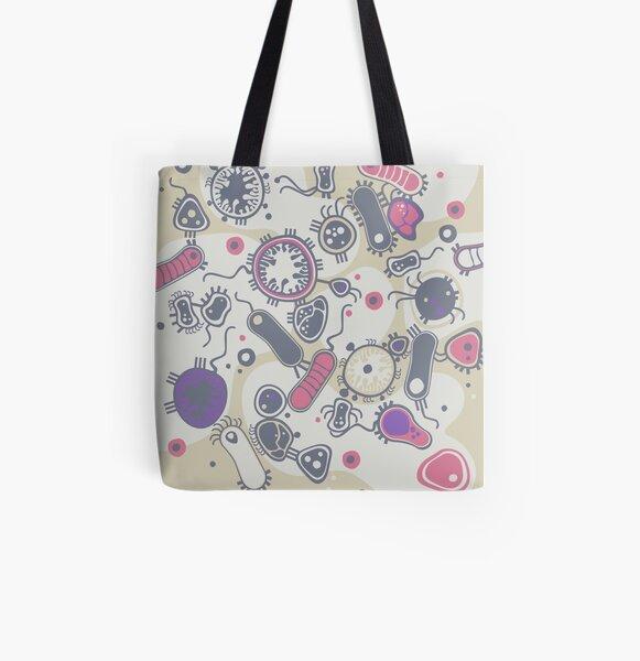 Eukaryote (pink / purple) All Over Print Tote Bag