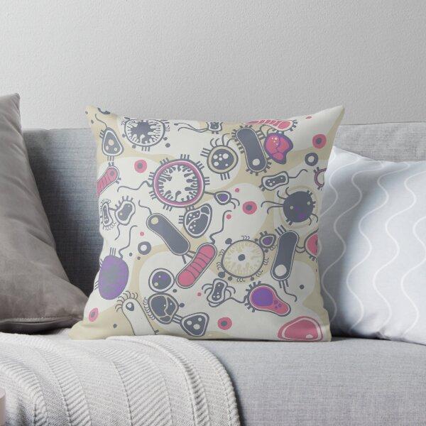 Eukaryote (pink / purple) Throw Pillow