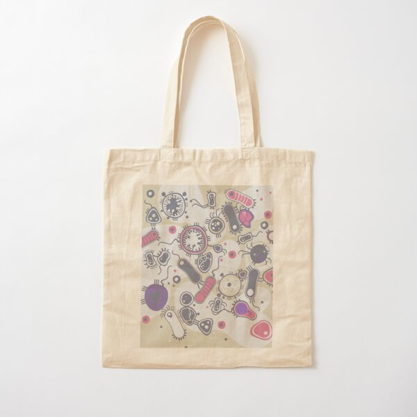 Eukaryote (pink / purple) Cotton Tote Bag