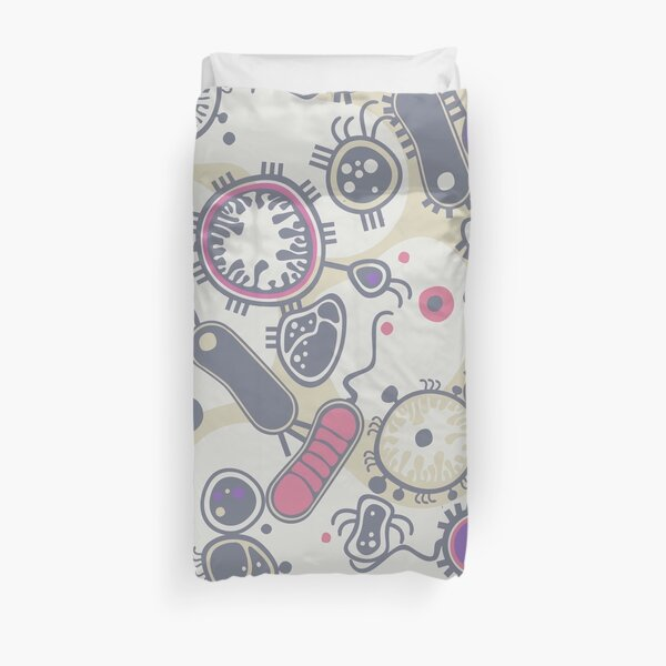 Eukaryote (pink / purple) Duvet Cover