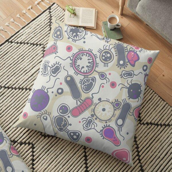 Eukaryote (pink / purple) Floor Pillow