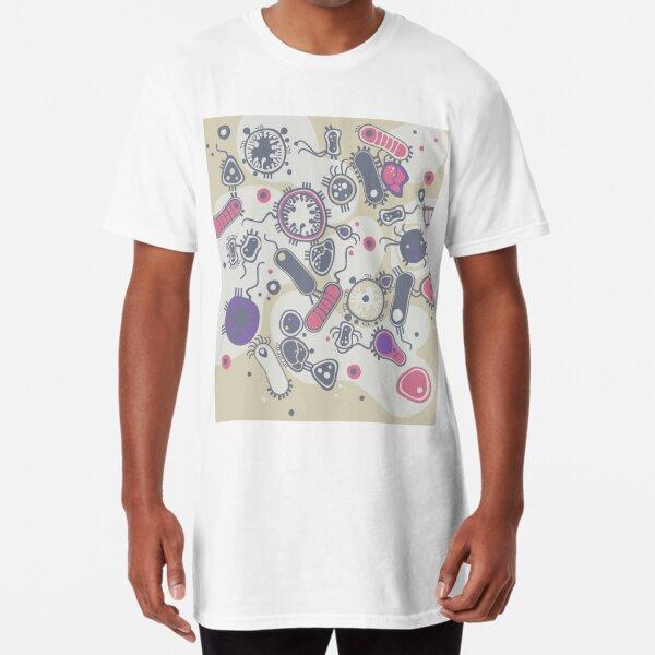 Eukaryote (pink / purple) Long T-Shirt