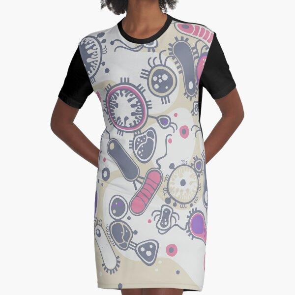 Eukaryote (pink / purple) Graphic T-Shirt Dress