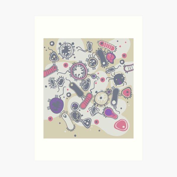 Eukaryote (pink / purple) Art Print