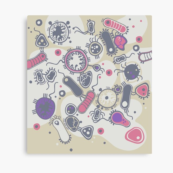 Eukaryote (pink / purple) Canvas Print