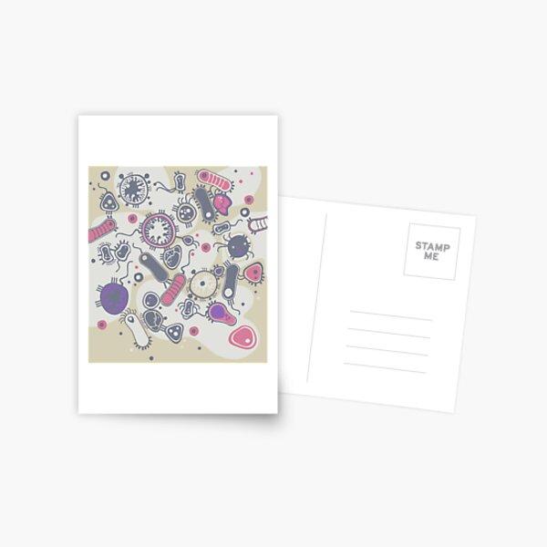 Eukaryote (pink / purple) Postcard