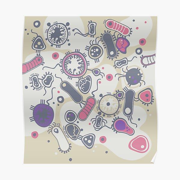 Eukaryote (pink / purple) Poster