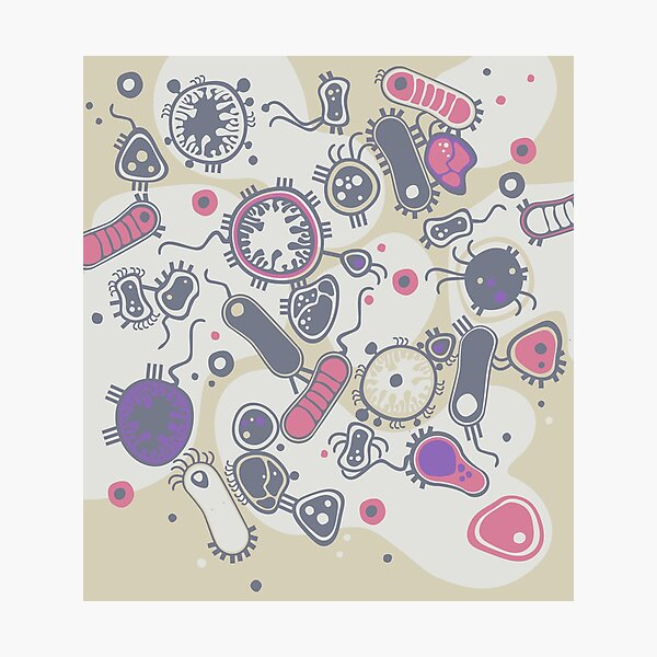 Eukaryote (rosa/lila) Fotodruck