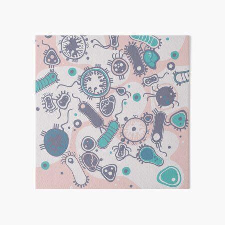 Eukaryote (rosa/türkis) Galeriedruck