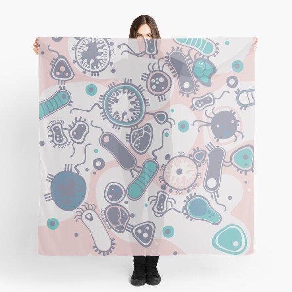 Eukaryote (pink / turquoise) Scarf