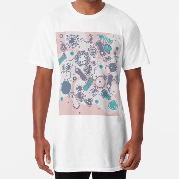 Eukaryote (pink / turquoise) Long T-Shirt