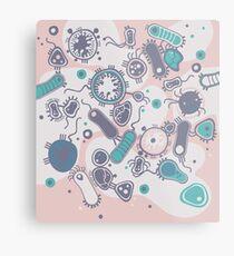 Eukaryote (rosa/türkis) Metallbild