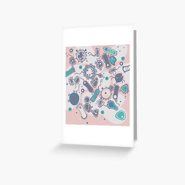 Eukaryote (pink / turquoise) Greeting Card