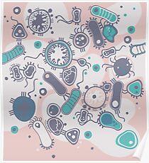 Eukaryote (rosa/türkis) Poster