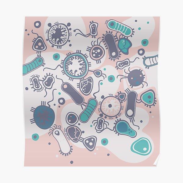 Eukaryote (pink / turquoise) Poster