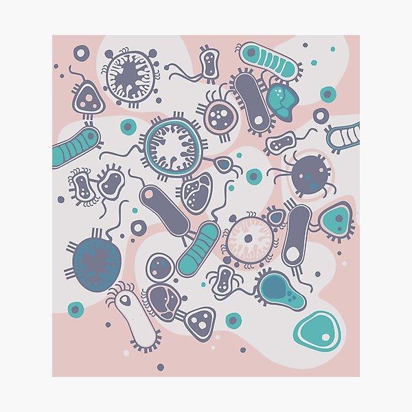 Eukaryote (rosa/türkis) Fotodruck