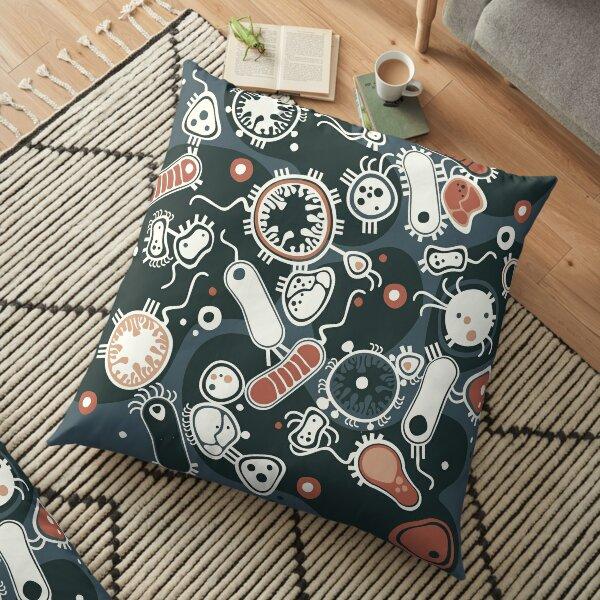 Eukaryote (dark + blue) Floor Pillow