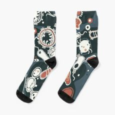 Eukaryote (dunkel + blau) Socken
