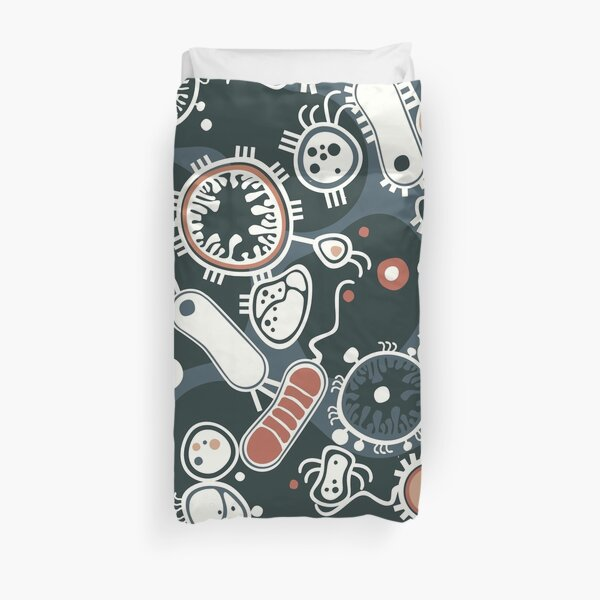 Eukaryote (dark + blue) Duvet Cover