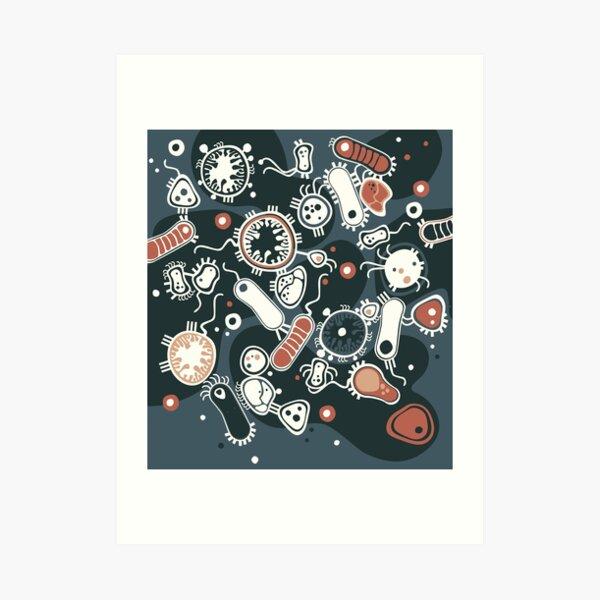 Eukaryote (dark + blue) Art Print