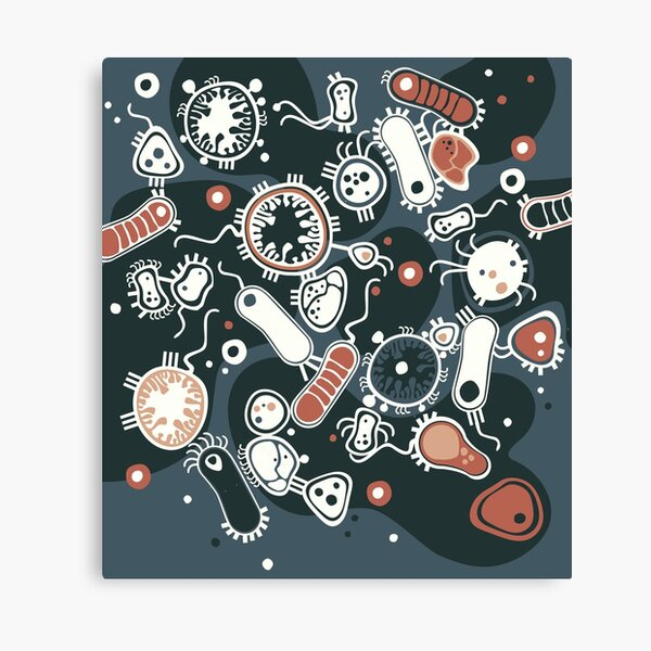 Eukaryote (dark + blue) Canvas Print