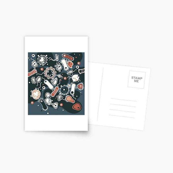 Eukaryote (dark + blue) Postcard