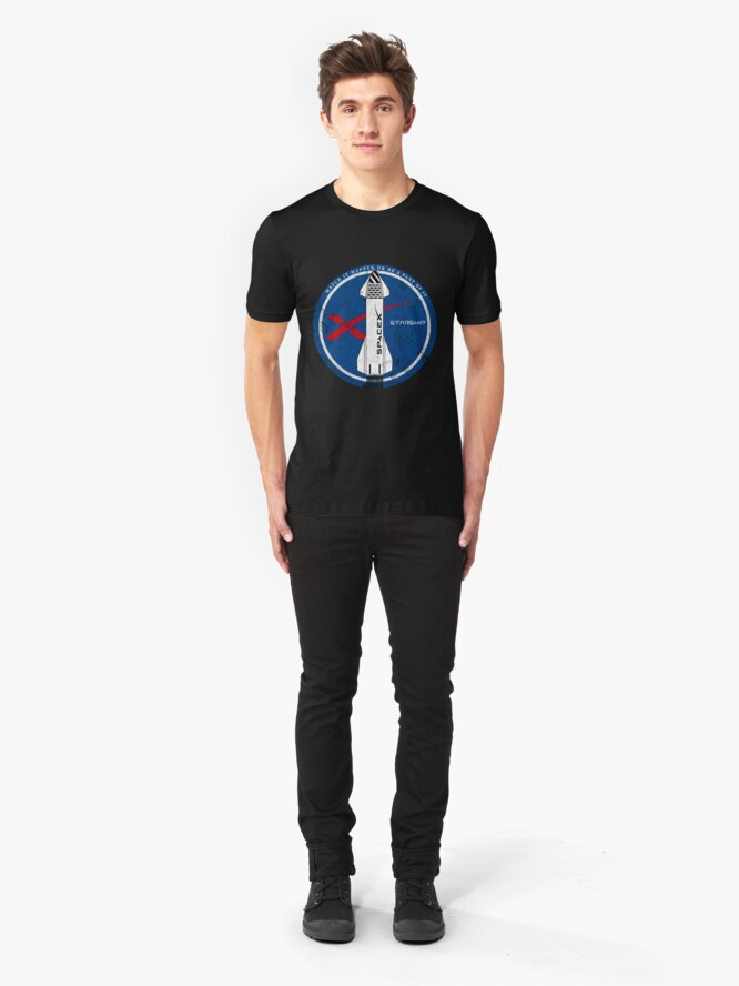 Alternate view of Starship: Watch it happen or be a part of it Slim Fit T-Shirt