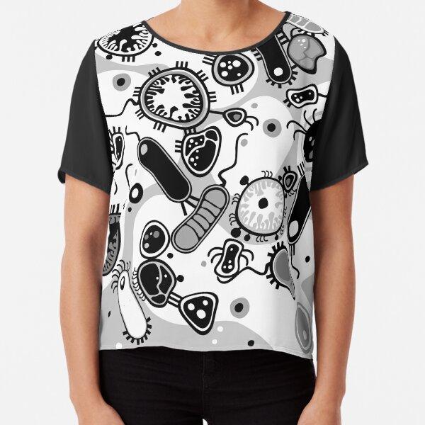 Eukaryote (schwarz/weiß) Chiffon Top