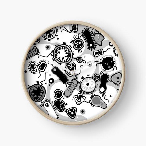 Eukaryote (black / white) Clock