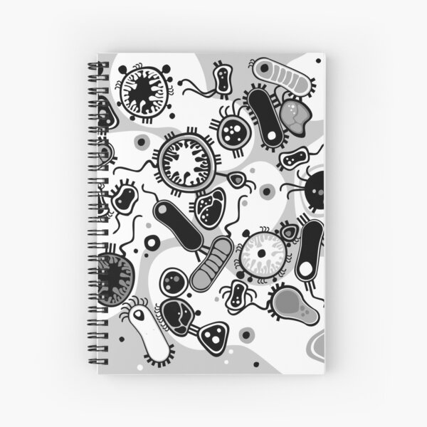 Eukaryote (black / white) Spiral Notebook
