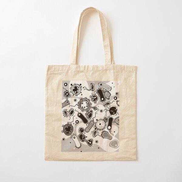 Eukaryote (black / white) Cotton Tote Bag