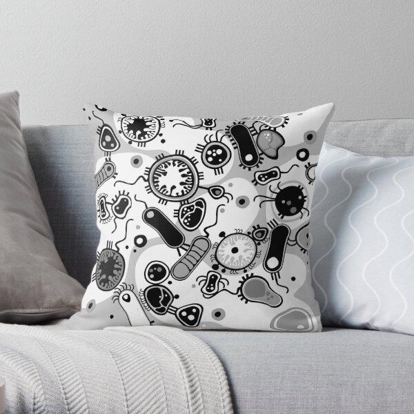 Eukaryote (black / white) Throw Pillow