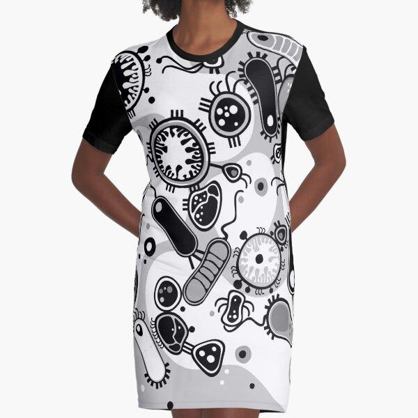 Eukaryote (black / white) Graphic T-Shirt Dress