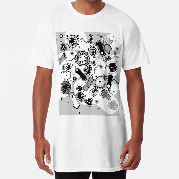Eukaryote (black / white) Long T-Shirt