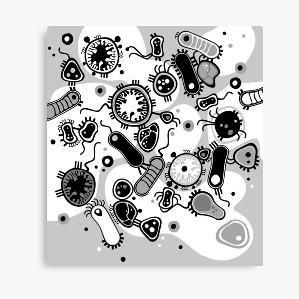 Eukaryote (black / white) Canvas Print