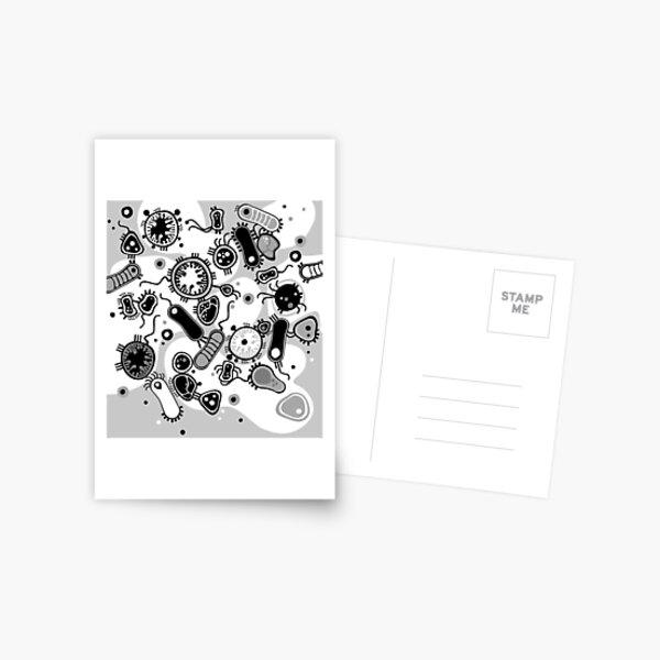 Eukaryote (black / white) Postcard