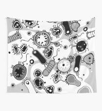 Eukaryote (schwarz/weiß) Wandbehang