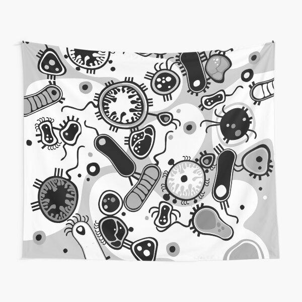 Eukaryote (black / white) Tapestry