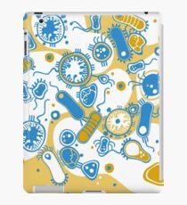 Eukaryote (gelb+ blau) iPad-Hülle & Klebefolie