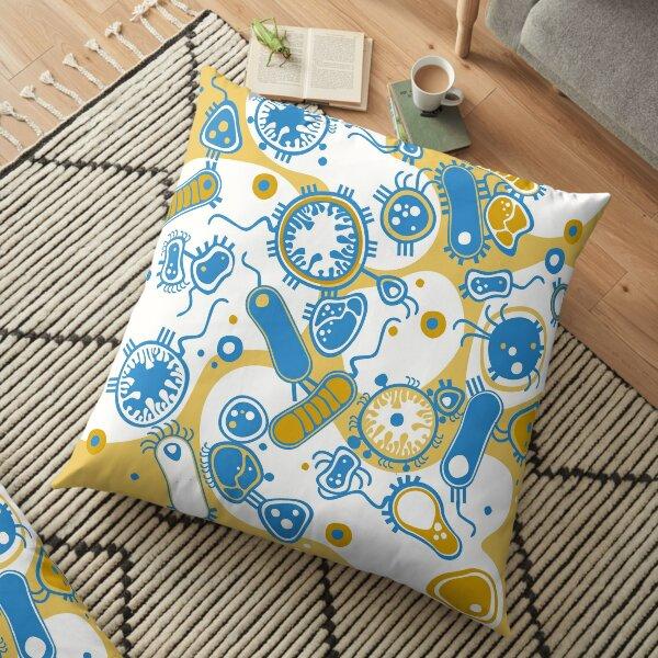Eukaryote (yellow + blue) Floor Pillow