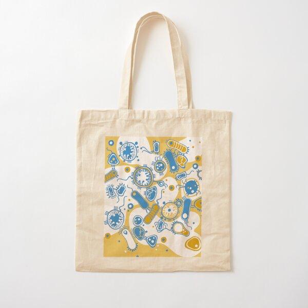Eukaryote (yellow + blue) Cotton Tote Bag