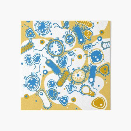 Eukaryote (gelb+ blau) Galeriedruck