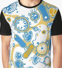 Eukaryote (gelb+ blau) Grafik T-Shirt