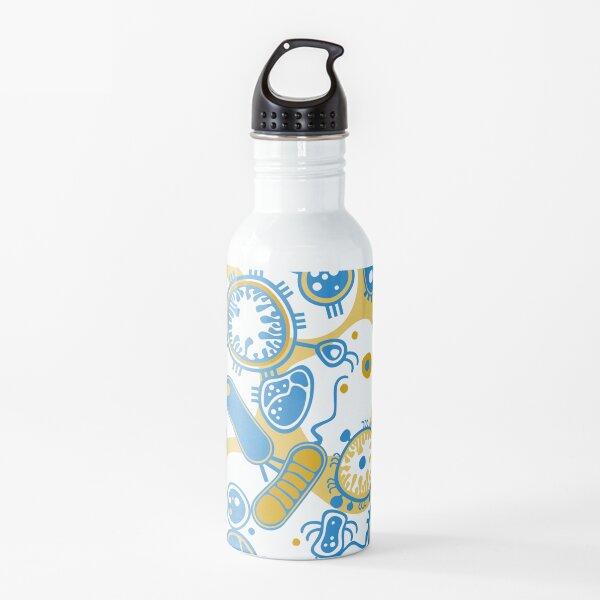 Eukaryote (yellow + blue) Water Bottle
