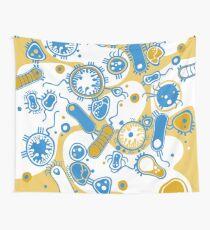 Eukaryote (gelb+ blau) Wandbehang