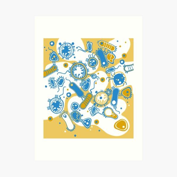 Eukaryote (yellow + blue) Art Print
