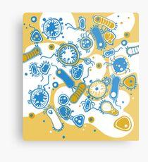 Eukaryote (gelb+ blau) Metallbild