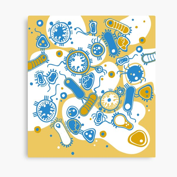 Eukaryote (yellow + blue) Canvas Print