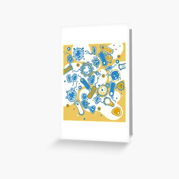 Eukaryote (yellow + blue) Greeting Card